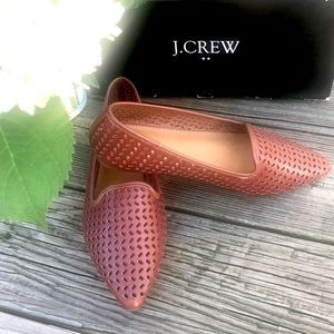 J CREW Tan Perforated Loafers